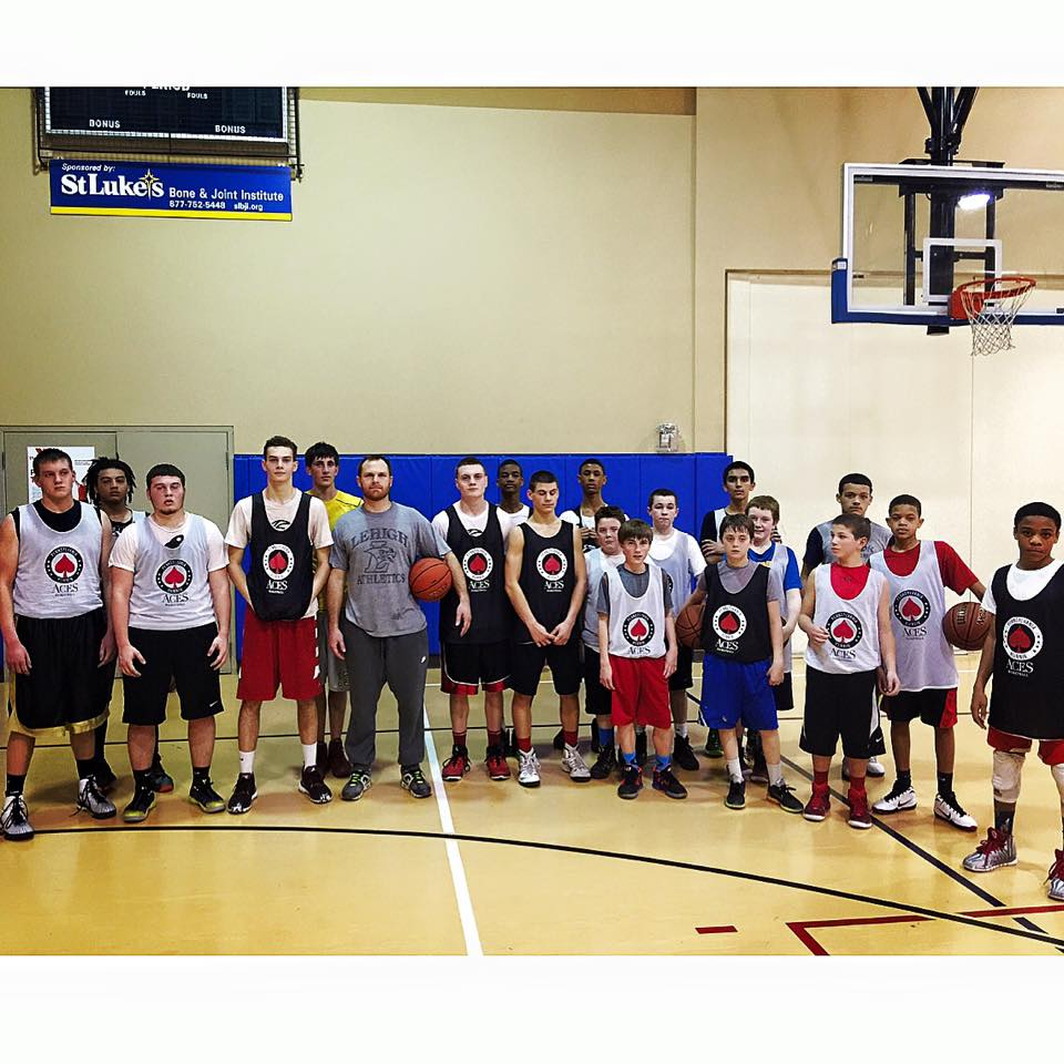 Post workout with the AAU Runnin Aces from The Pennsylvania Shooting Academy